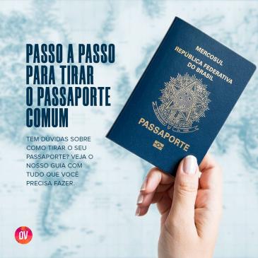 Passo a passo para tirar o passaporte comum